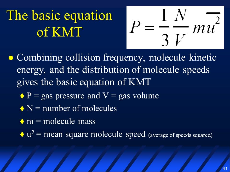 The basic equation of KMT