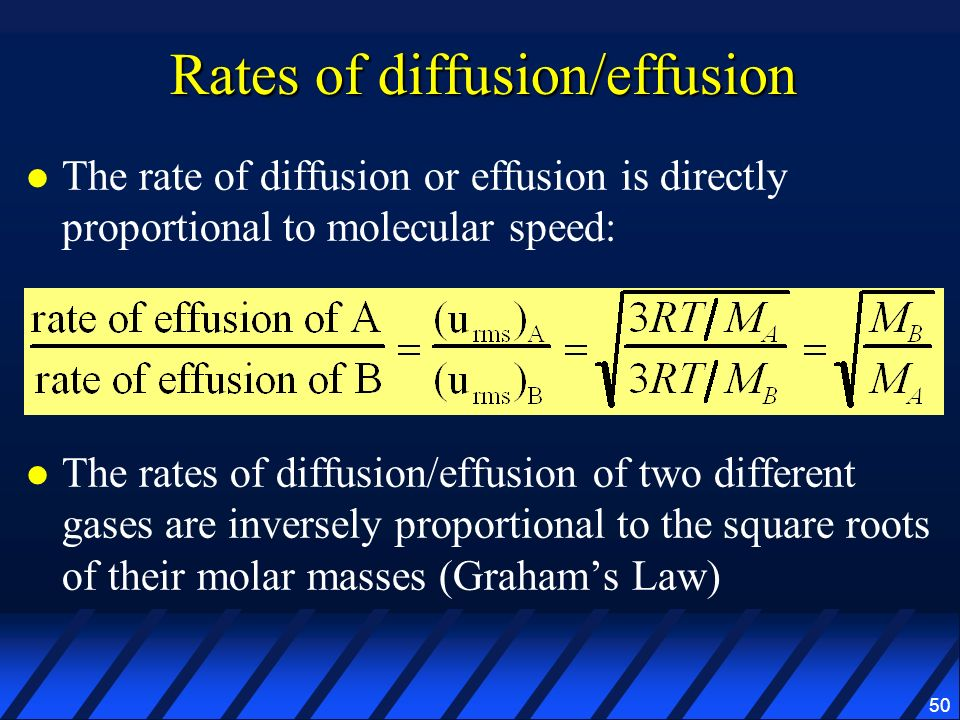 Rates of diffusion/effusion