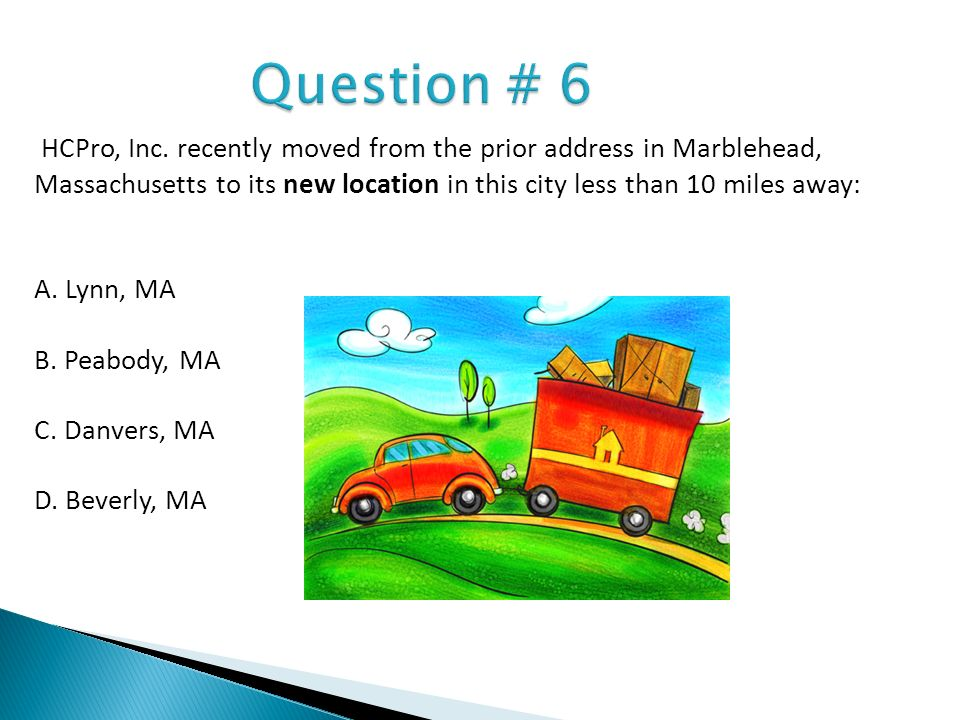 Question # 6