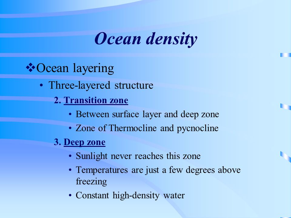 Ocean density Ocean layering Three-layered structure