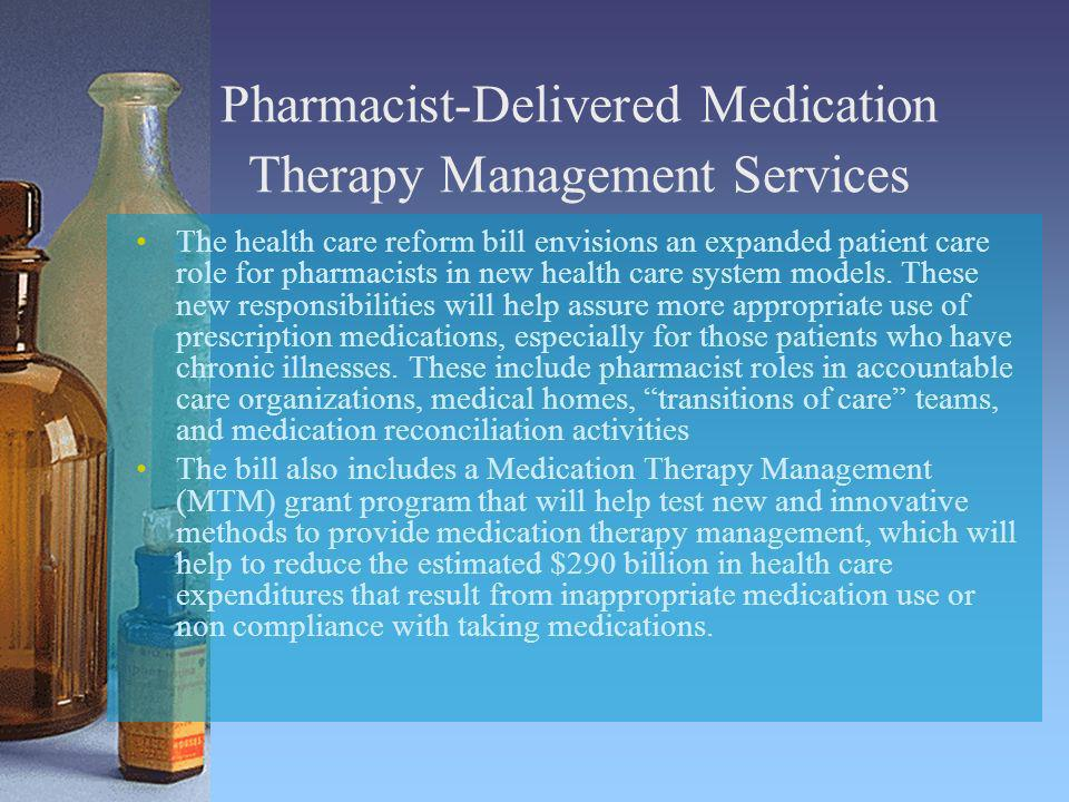 Pharmacist-Delivered Medication Therapy Management Services