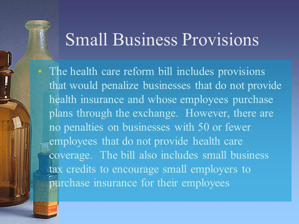 Small Business Provisions
