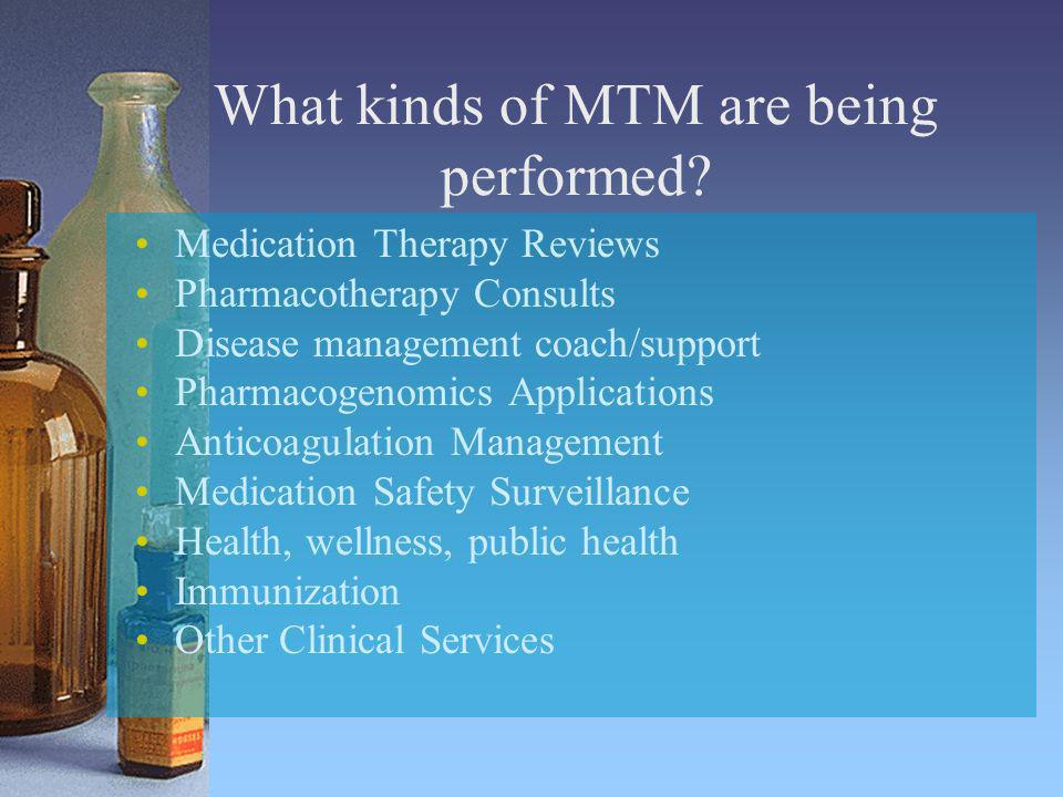 What kinds of MTM are being performed