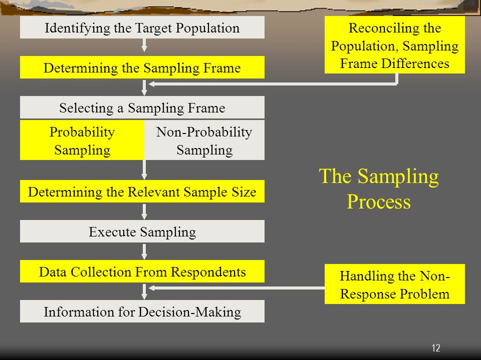 The Sampling Process Identifying the Target Population