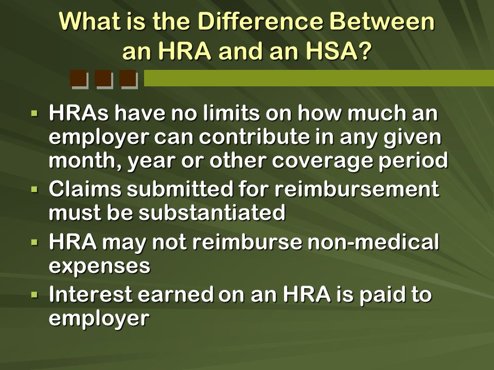 What is the Difference Between an HRA and an HSA