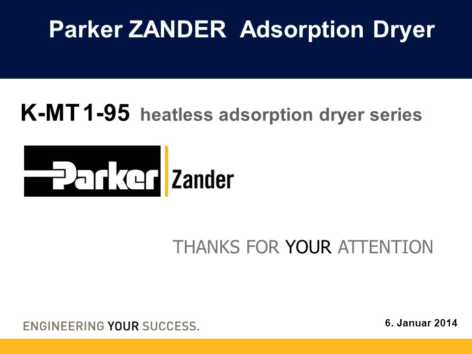 Parker ZANDER Adsorption Dryer