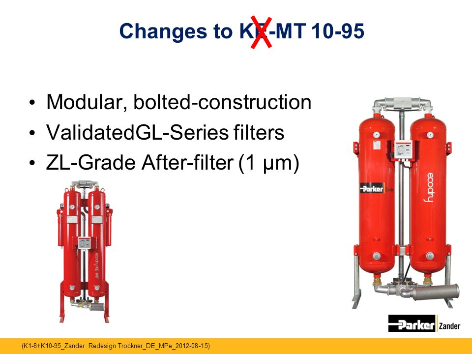 Changes to KE-MT Modular, bolted-construction.