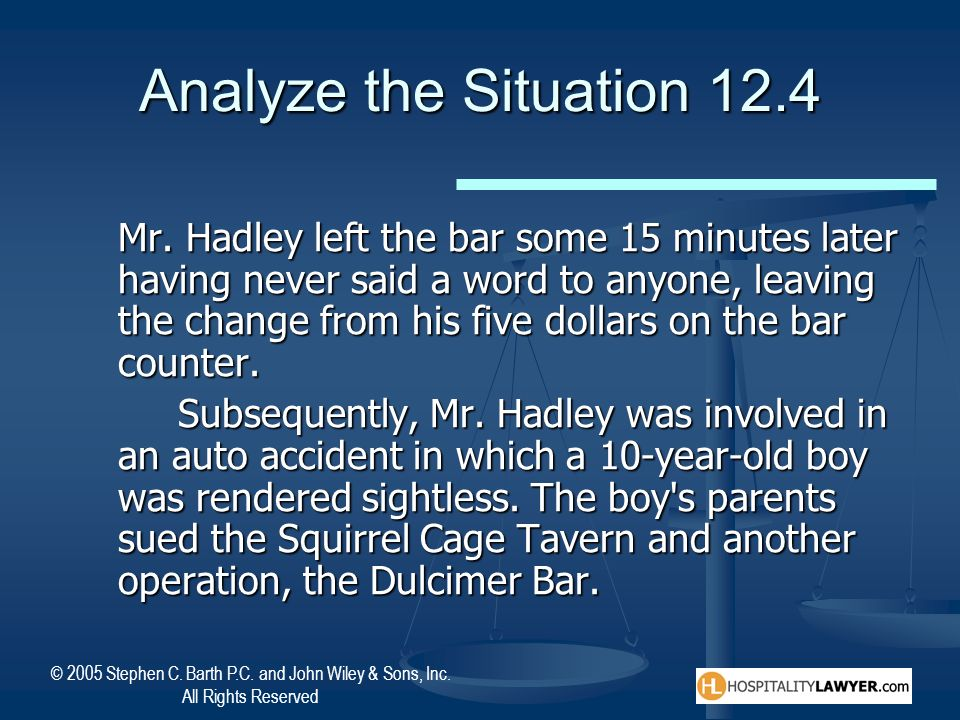 Analyze the Situation 12.4
