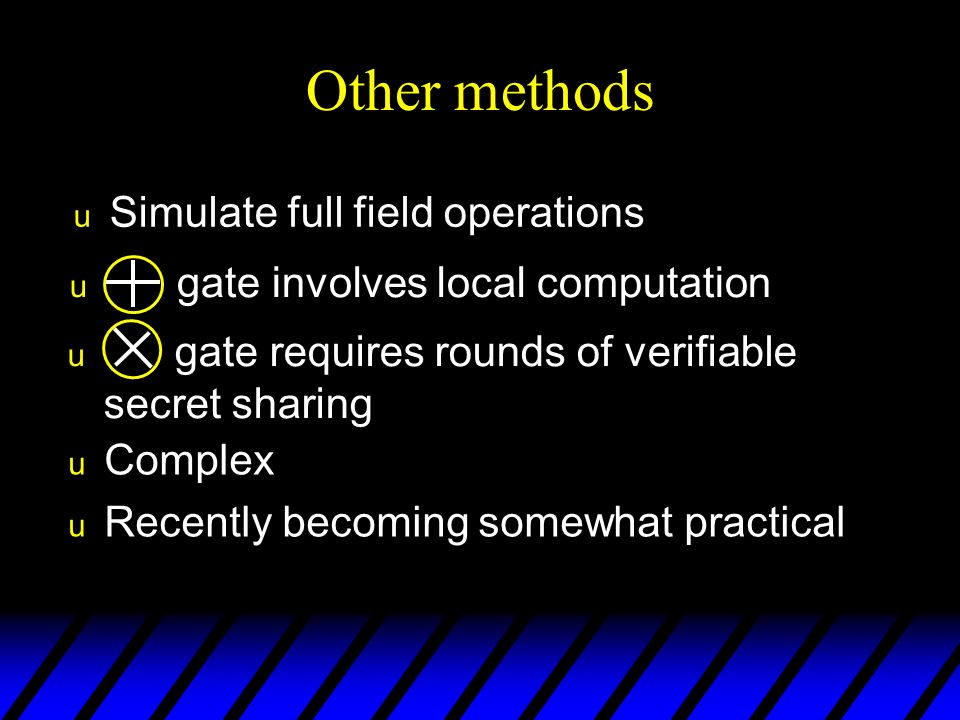 Other methods Simulate full field operations