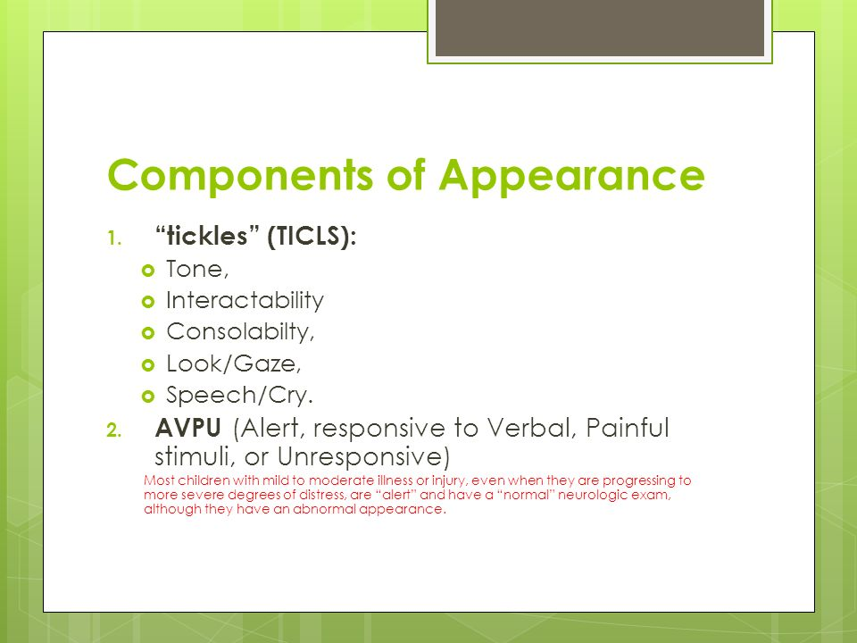 Components of Appearance