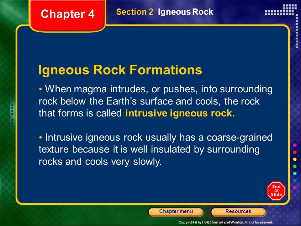 Igneous Rock Formations
