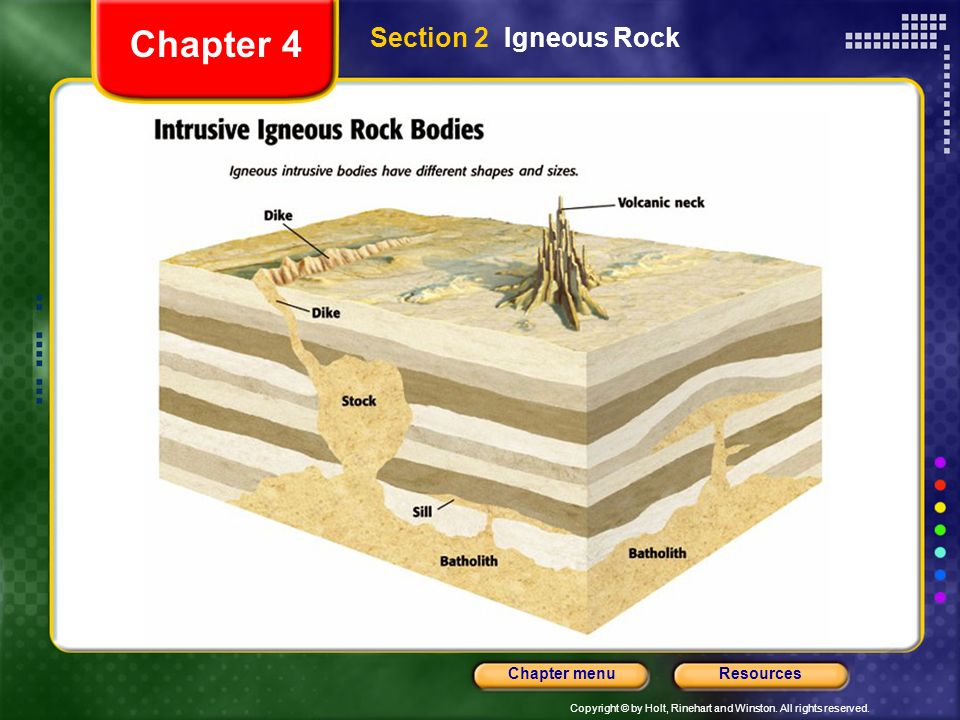 Chapter 4 Section 2 Igneous Rock