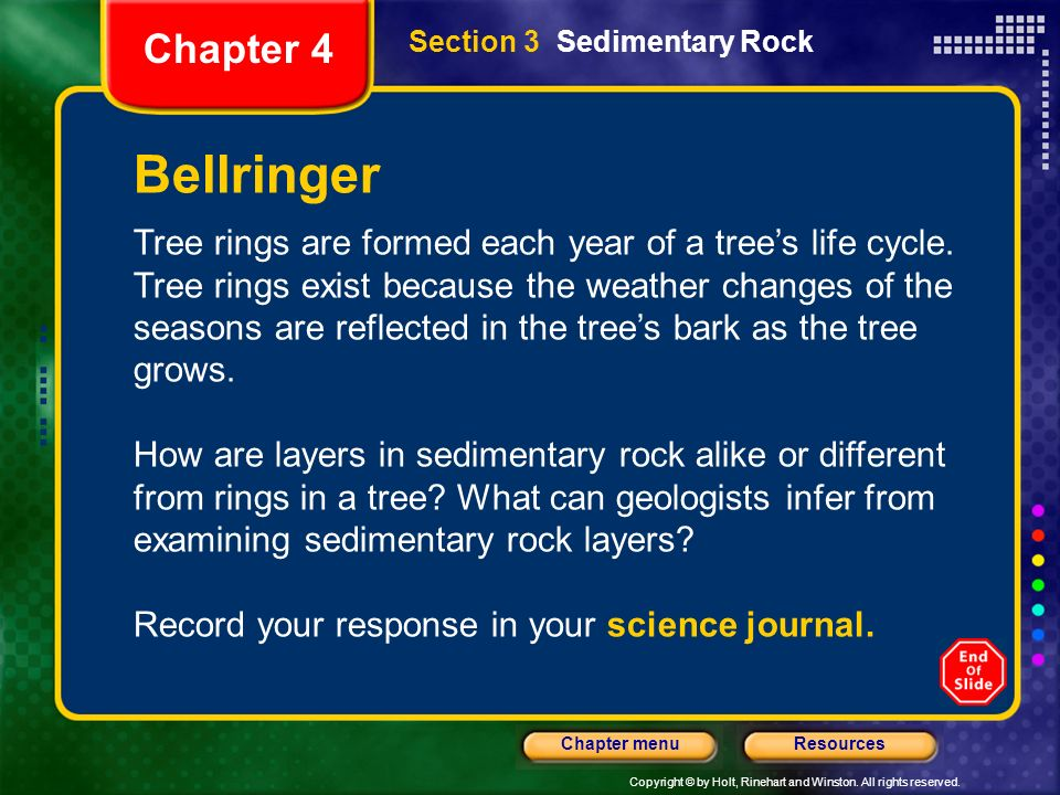 Chapter 4 Section 3 Sedimentary Rock. Bellringer.