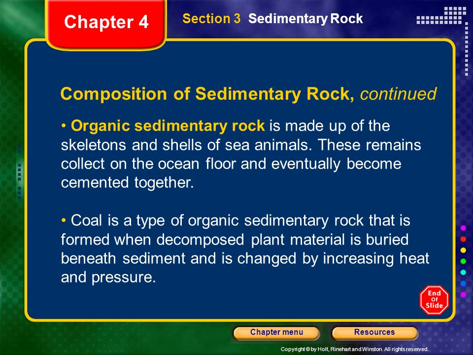 Chapter 4 Composition of Sedimentary Rock, continued