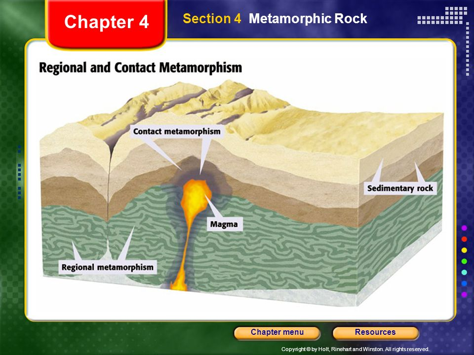 Chapter 4 Section 4 Metamorphic Rock