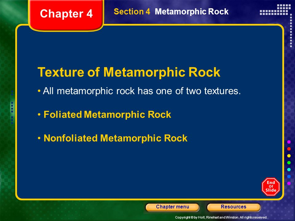 Texture of Metamorphic Rock