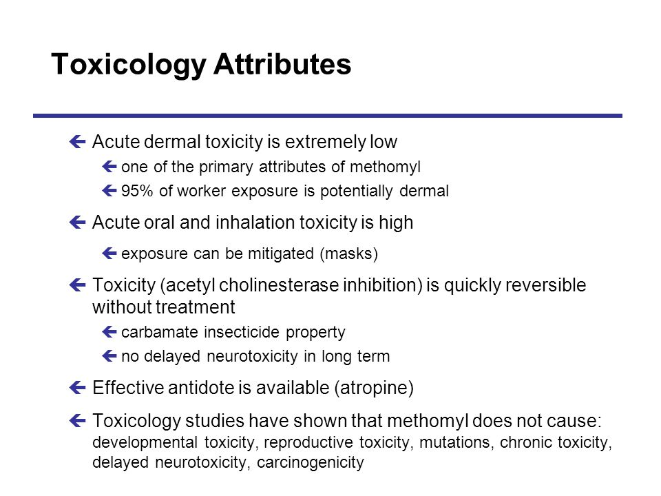 Toxicology Attributes