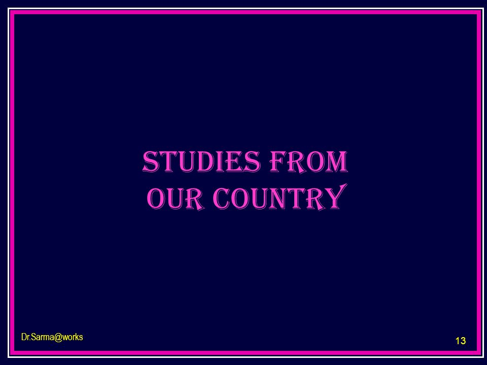 studies from our country
