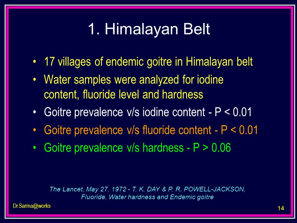 1. Himalayan Belt 17 villages of endemic goitre in Himalayan belt