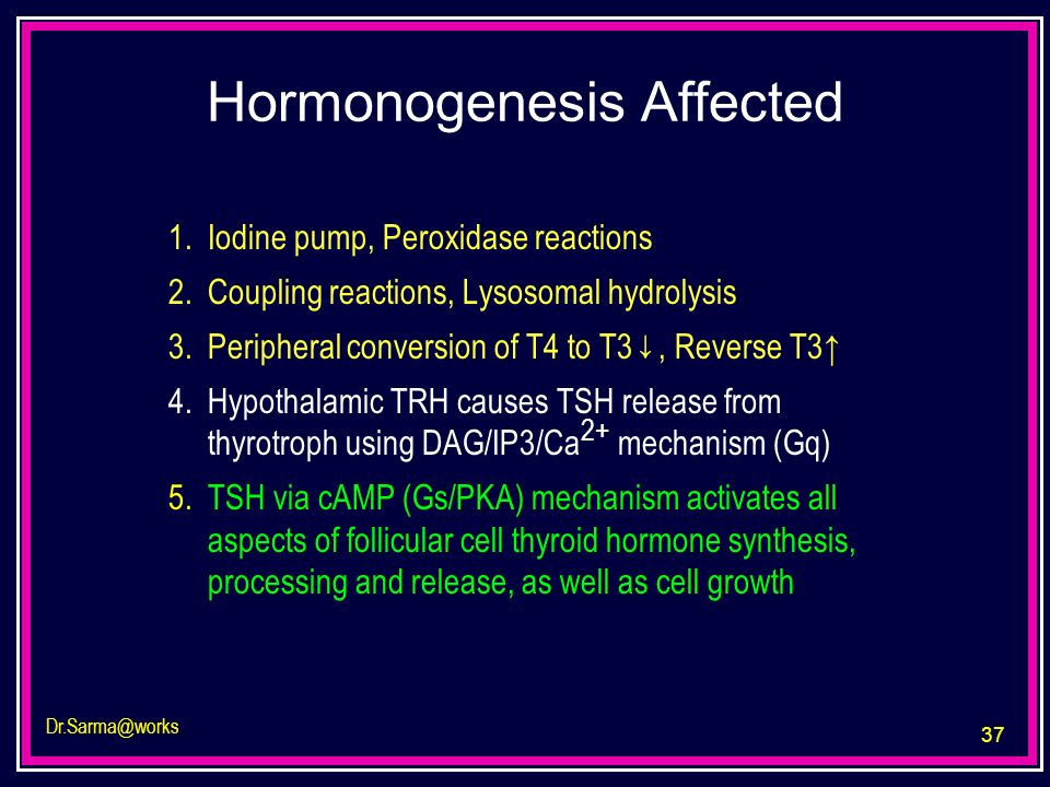 Hormonogenesis Affected