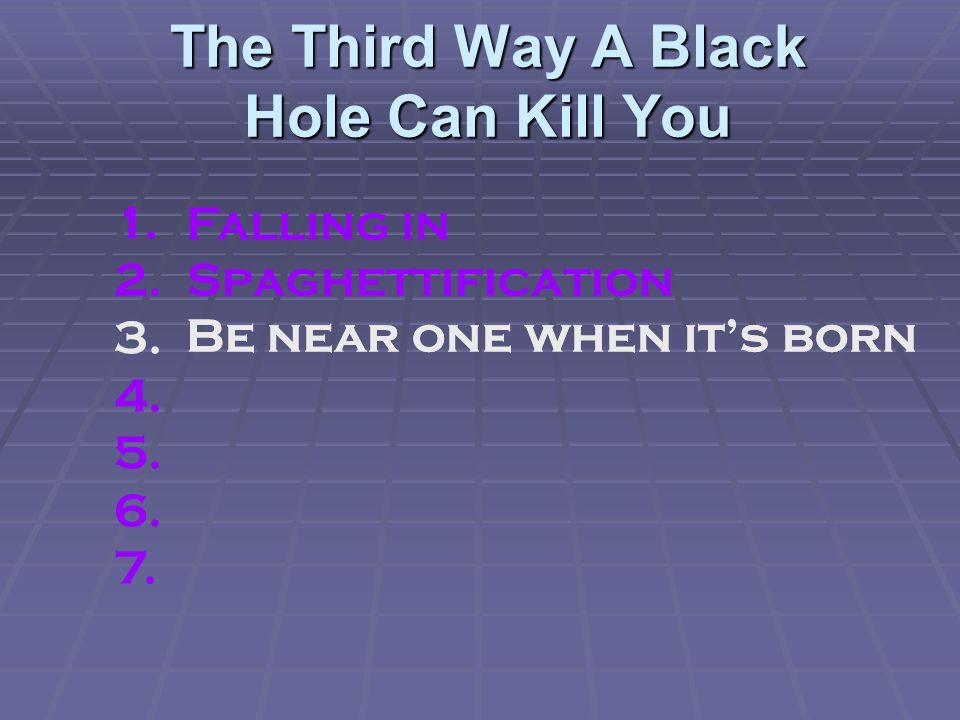 The Third Way A Black Hole Can Kill You