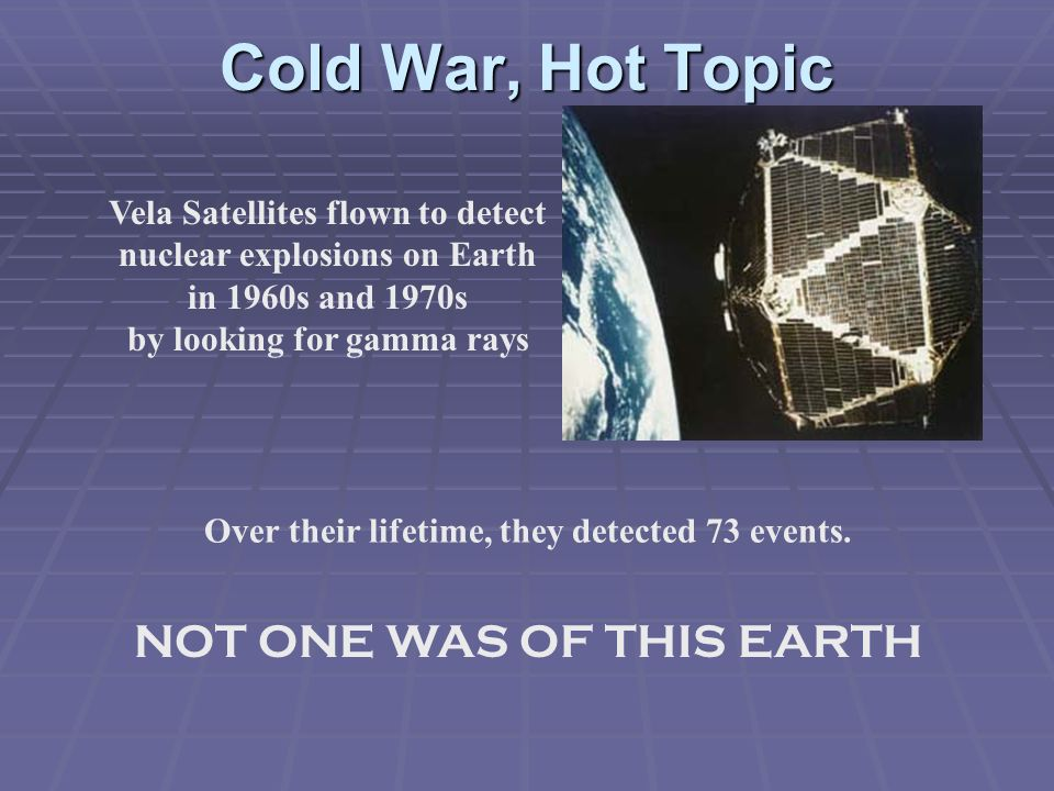 Cold War, Hot Topic NOT ONE WAS OF THIS EARTH