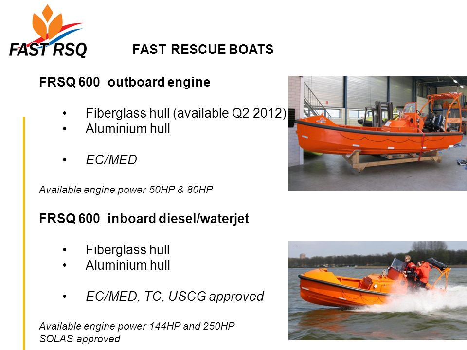 FAST RESCUE BOATS FRSQ 600 outboard engine