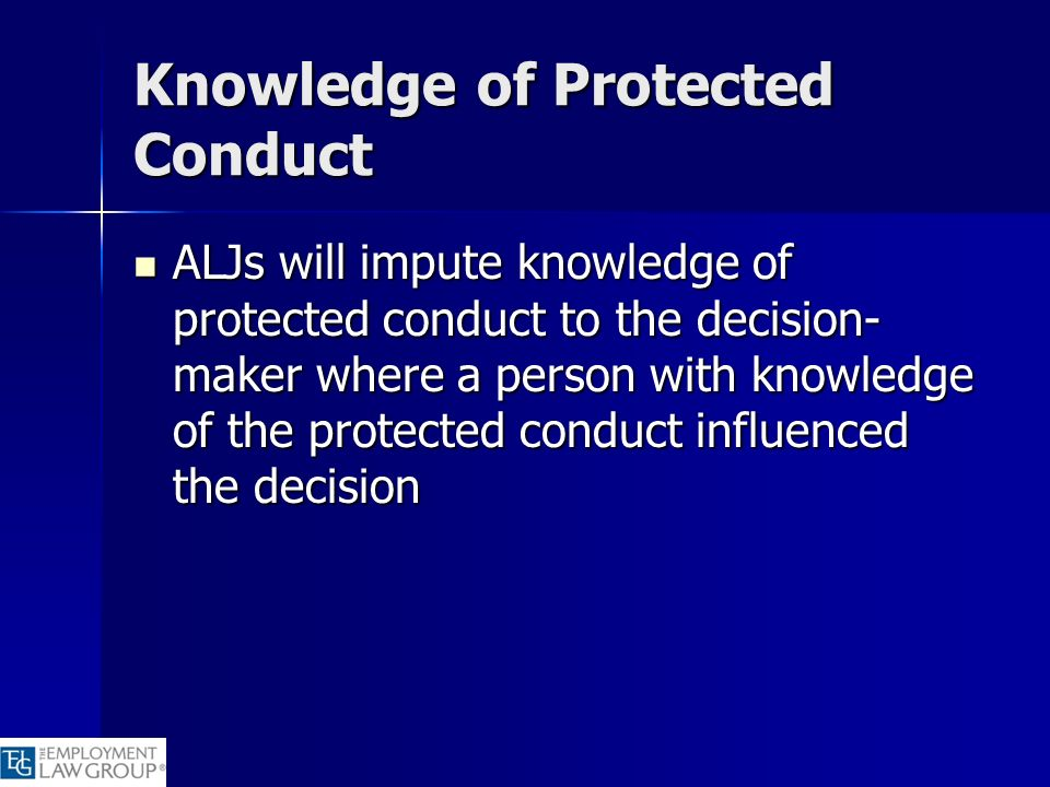 Knowledge of Protected Conduct