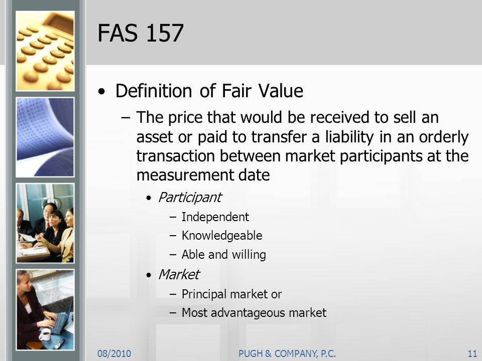 FAS 157 Definition of Fair Value