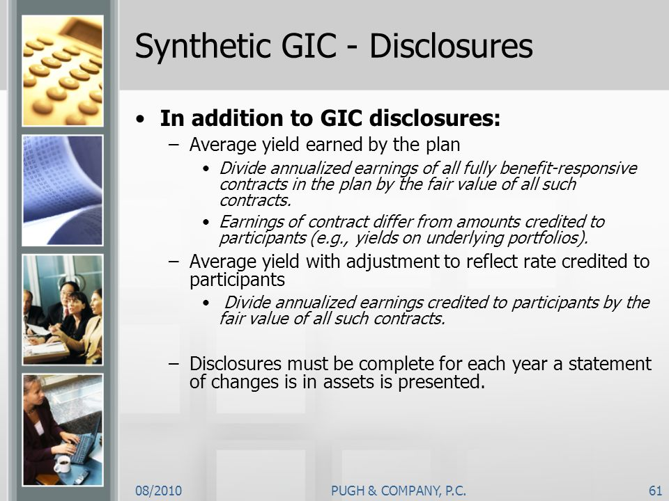 Synthetic GIC - Disclosures