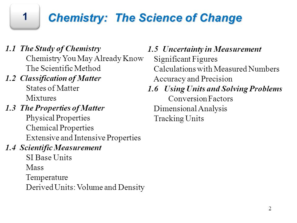 Chemistry: The Science of Change