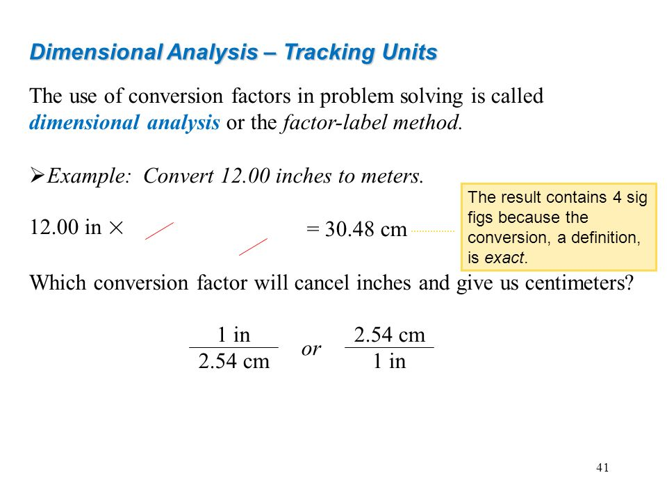 Dimensional Analysis – Tracking Units