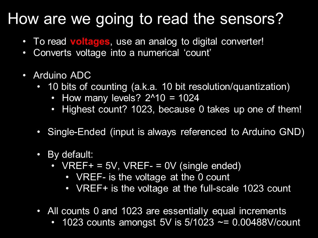 How are we going to read the sensors