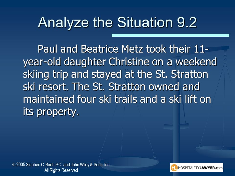 Analyze the Situation 9.2