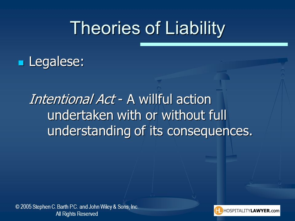 Theories of Liability Legalese: