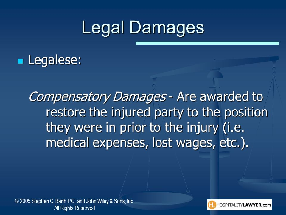 Legal Damages Legalese: