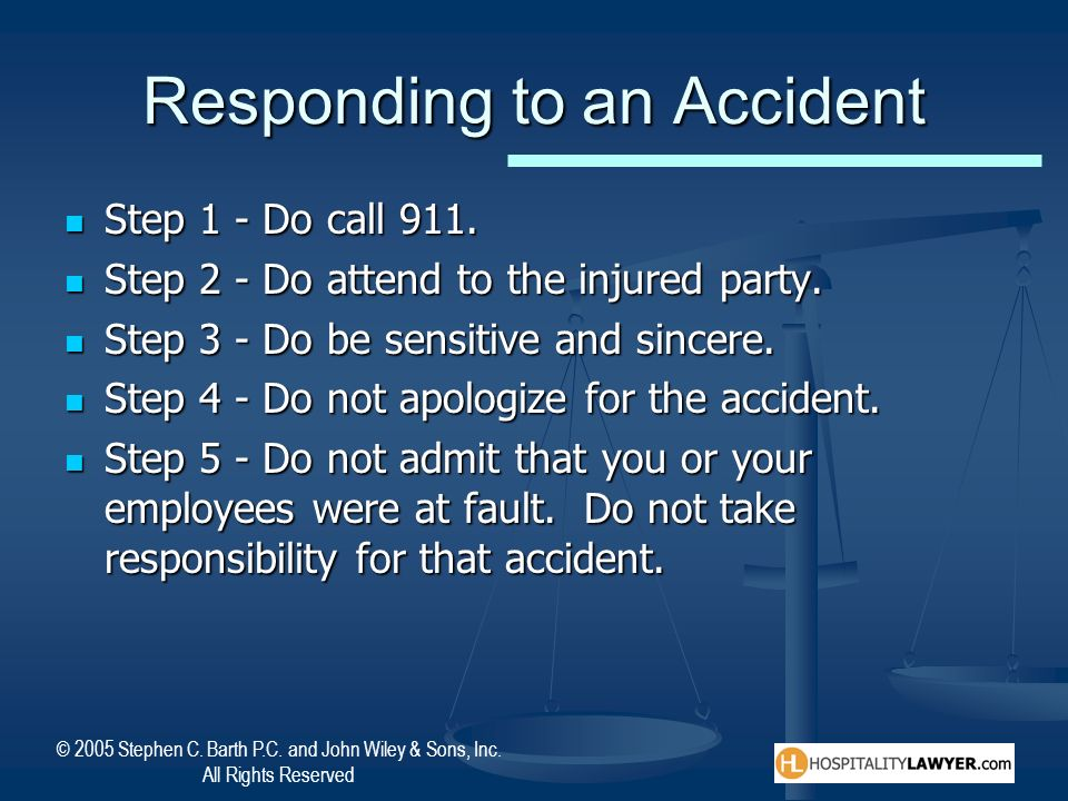 Responding to an Accident