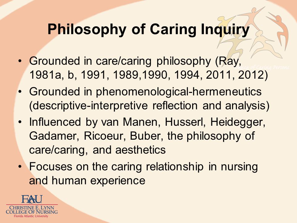 Philosophy of Caring Inquiry