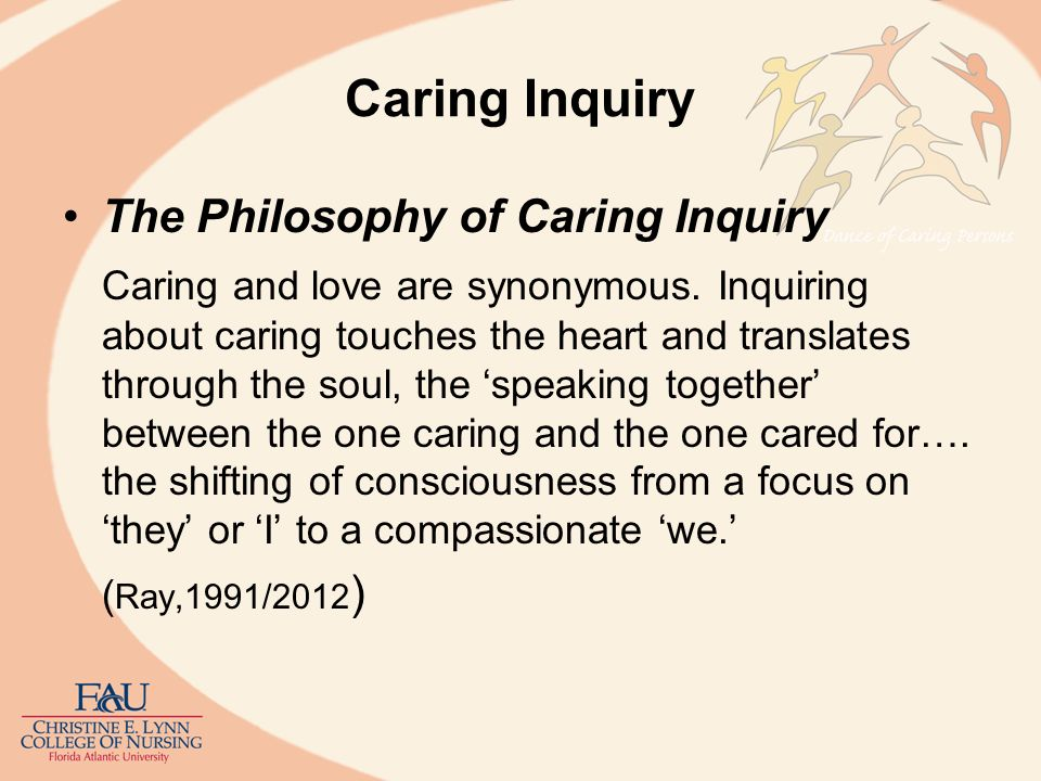 Caring Inquiry The Philosophy of Caring Inquiry