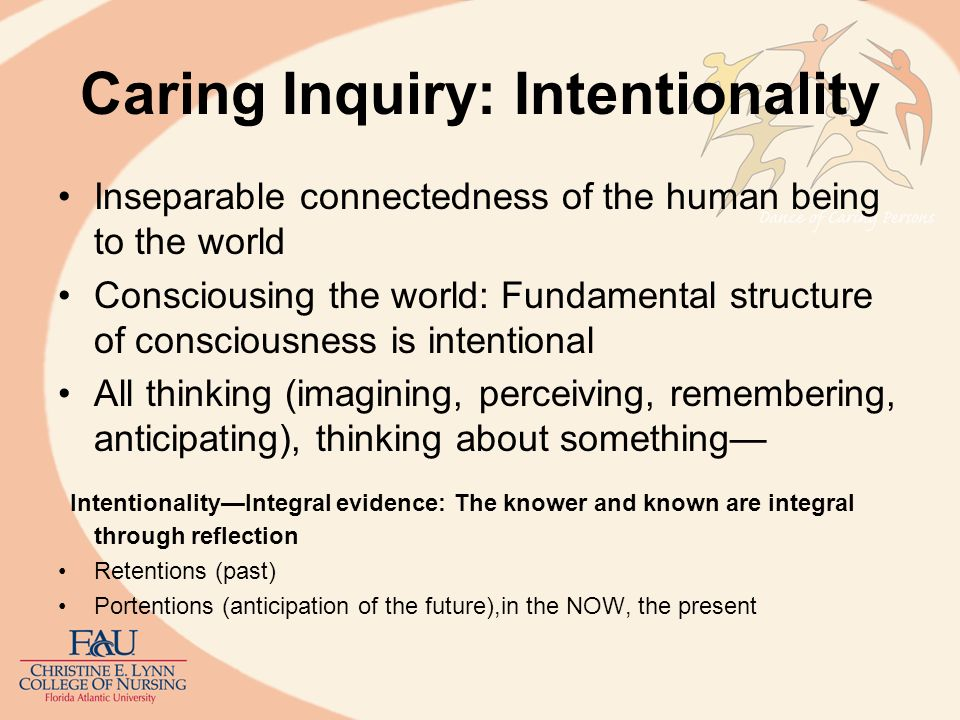 Caring Inquiry: Intentionality