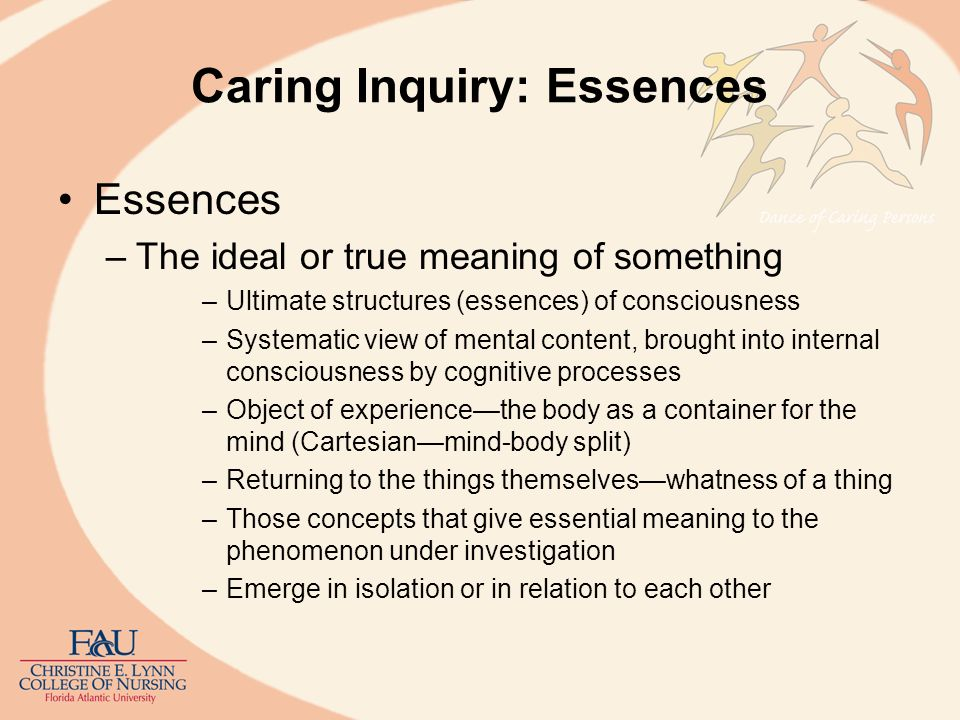 Caring Inquiry: Essences