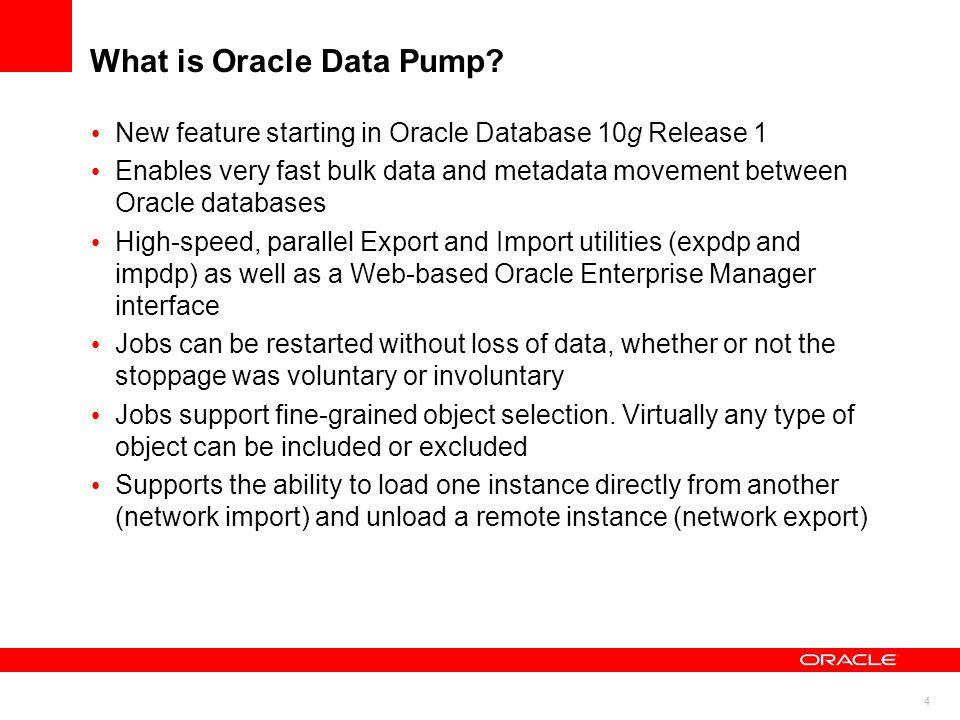 What is Oracle Data Pump