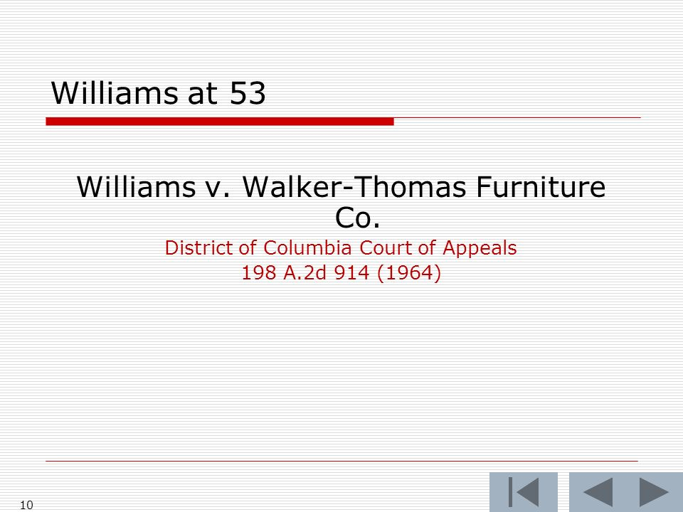 Williams at 53 Williams v. Walker-Thomas Furniture Co.