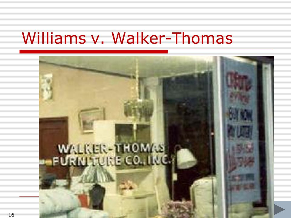 Williams v. Walker-Thomas