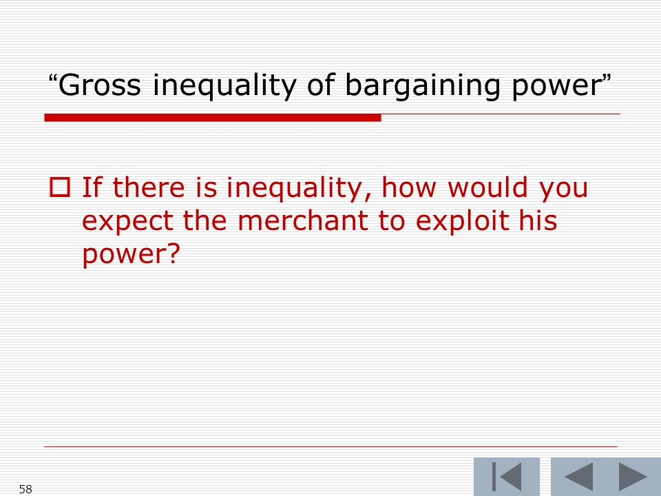 Gross inequality of bargaining power