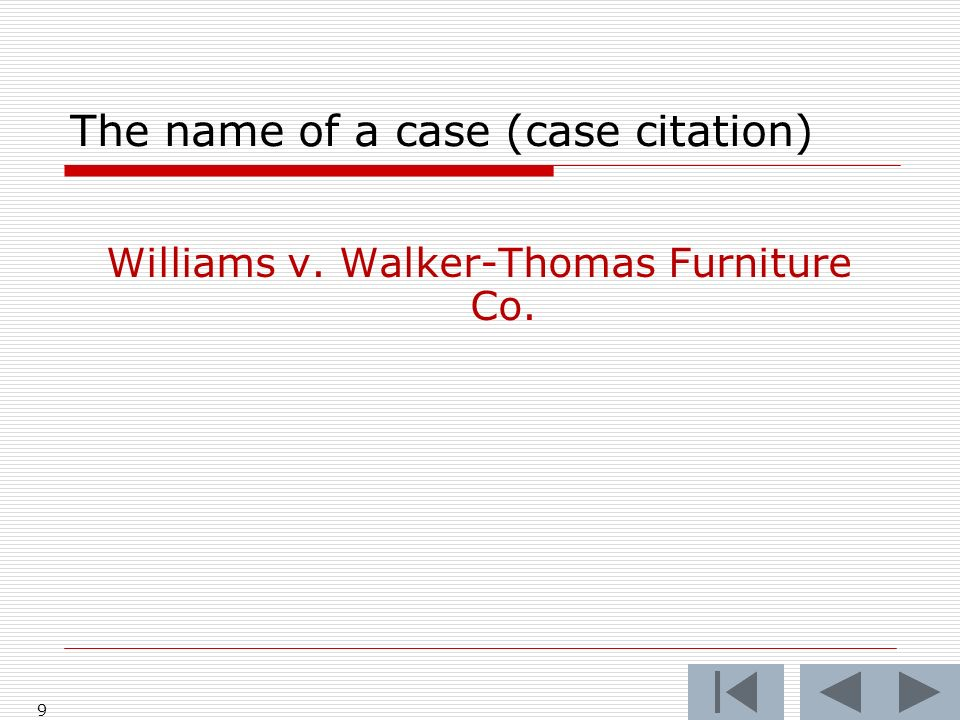 The name of a case (case citation)