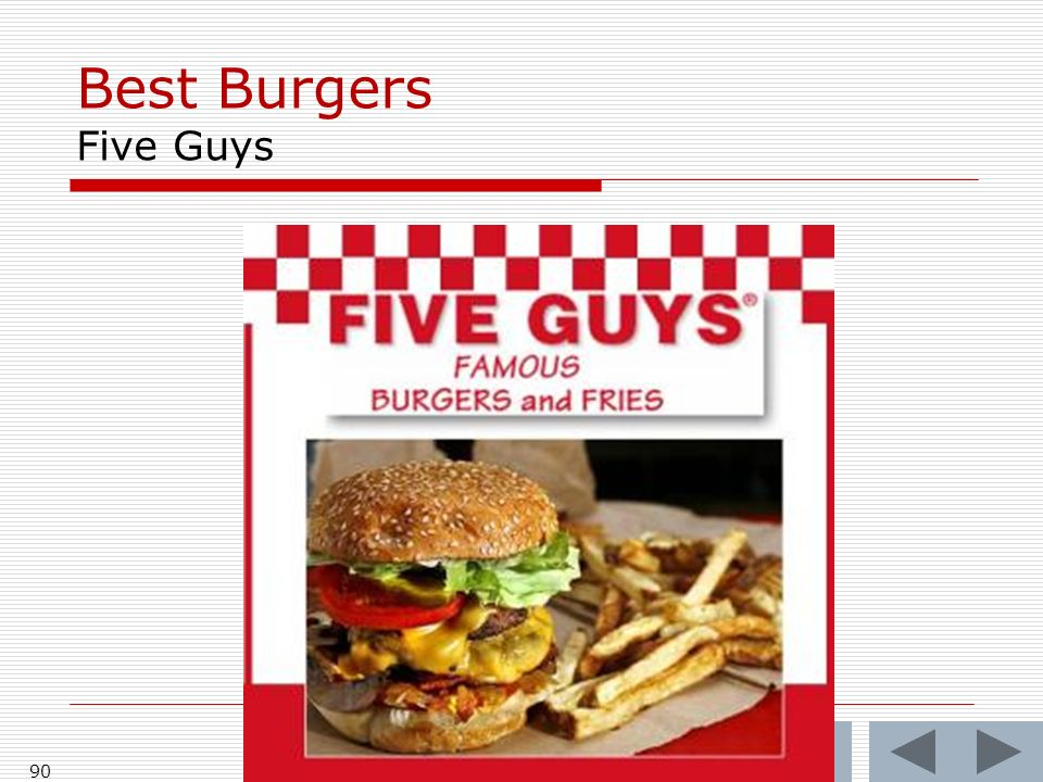 Best Burgers Five Guys