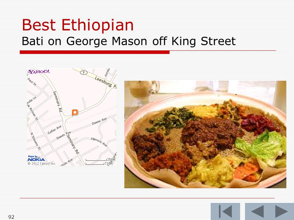Best Ethiopian Bati on George Mason off King Street