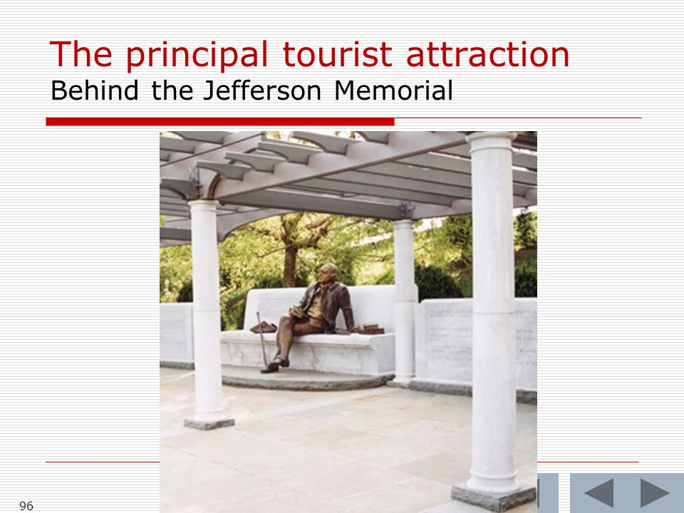 The principal tourist attraction Behind the Jefferson Memorial