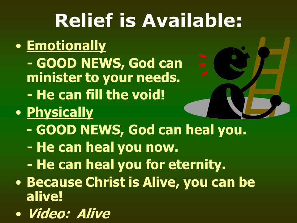 Relief is Available: Emotionally